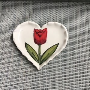 Heather Lane Pottery Heart Shaped Trinket dish